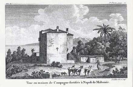 Antoine Laurent Castellan - Neapolis Monemvasis, Pyrgos or ochyromeni agroikia (1787)