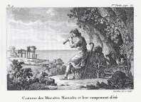 Antoine Laurent Castellan - Neapolis Monenvasias, Endymasia nomadon tou Moria (1797)