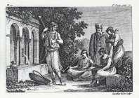Antoine Laurent Castellan - Neapolis Monenvasias, Periferomenos Ellhnas aoidos kai endymasies Moraiton (1797)