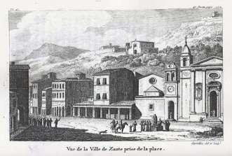 Antoine laurent Castellan - Zante, Plateia Agiou Markou (1797)