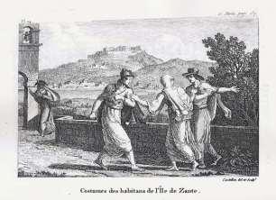 Antoine Laurent Castellan - Zante, topikes endymasies (1797)