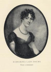 FOSCOLO FRIENDS - Barbarina Lady Dacre (1786-1854) after a miniature