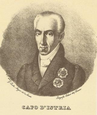 FOSCOLO FRIENDS - Ioannis kapodistrias, Lithografia Salucci 1827. Firenze