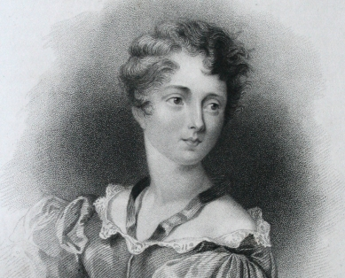 FOSCOLO FRIENDS - lady Caroline Lamb (1785-1828), detail from an engraving by W. Finden