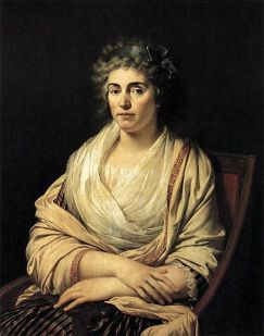 FOSCOLO FRIENDS - Louise, Countess d'Albany (1752-1824) in 1793., by Francois-Xavier Fabre (1766-1837) - Uffizi Gallery