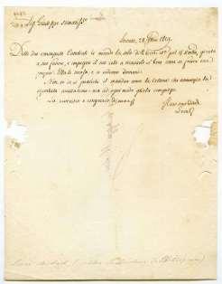 FOSCOLO FRIENDS - Michele Leoni (1776-1858), autograph letter (1819) to Giuseppe Mulini