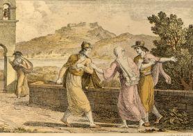 zante-costumes- by Antoine laurent Castellan (1778-1833) fron his book ¨Lettres sur la Morée et les îles de Cérigo, Hydra et Zante¨, Paris 1808.