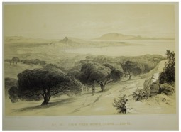 ZANTE . View from the mountain Scopo, c. 1863, by Edward Lear (1812-1888)