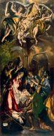 EL GRECO - La Adoración de los pastores (1597-1600). Óleo sobre lienzo. Museo Nacional de Arte, Bucarest, Rumania.