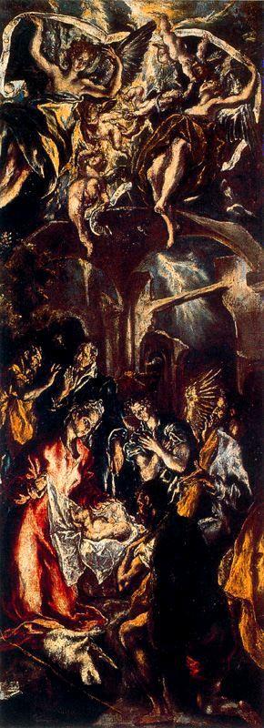 EL GRECO - La Adoración de los pastores (1597). Óleo sobre lienzo. Galleria Nazionale d´ Arte Antica, Roma.