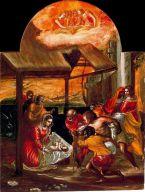 EL GRECO - La Adoración de los pastores, Triptico de Modena (1567-1569). Galleria Estense, Modena