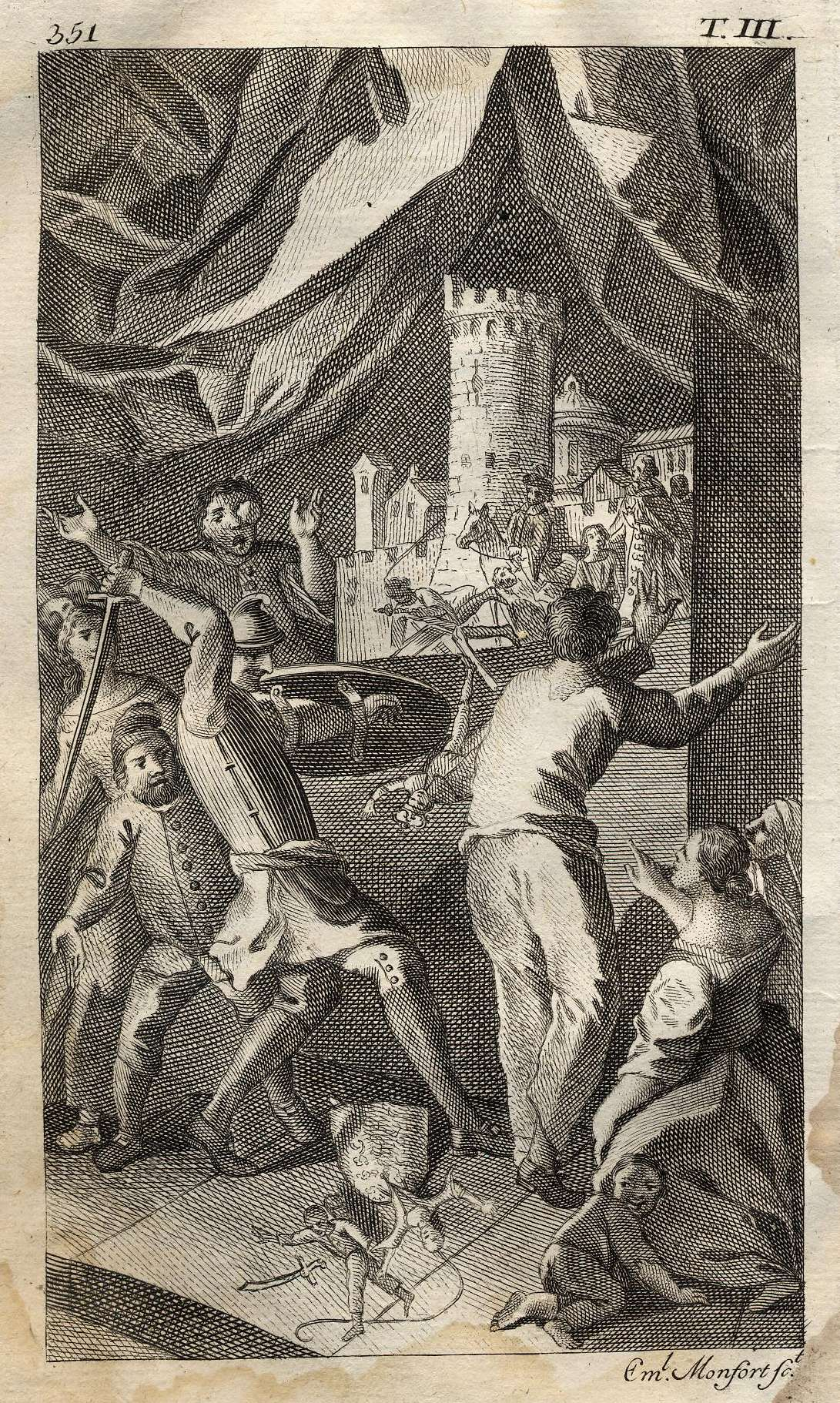 MONFORT - Don Quijote, La batalla con los títeres de Maese Pedro, 1771