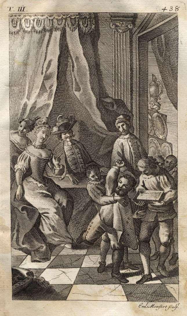 MONFORT - Don Quijote, Sancho no quiere dejarse lavar, 1771