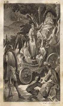 MONFORT - Don Quijote, Un carro de los que llaman triunfales, 1771