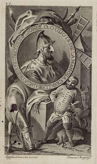 MONFORT - Manuel_Monfort_y_Asensi grabador y José Camarón dibujante, Don Quijote, vol. I, madrid  1771, editor Ibarra