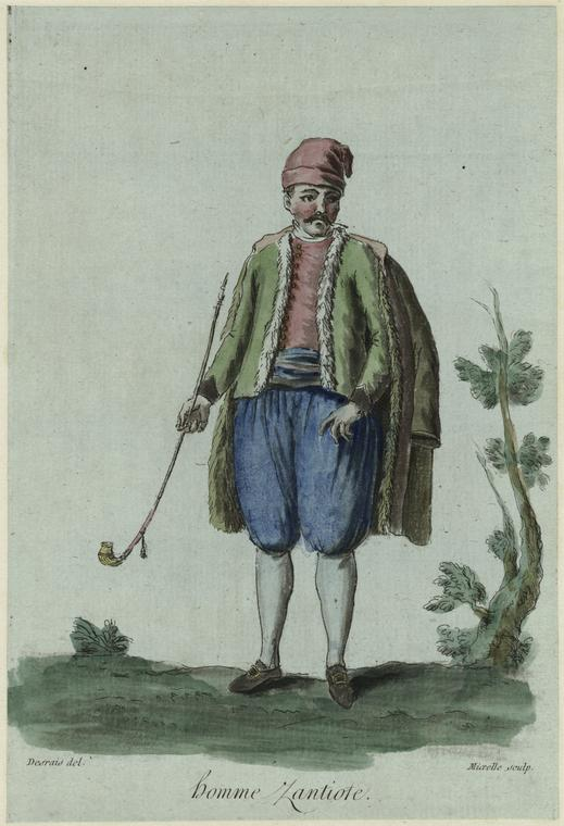 ZANTE - Homme Zantiote (1787).  Jean Marie Mixelle, engraver, on a drawing by  Claude Louis Desrais (1746-1816), after Jacque Grasset de Saint-Sauveur.