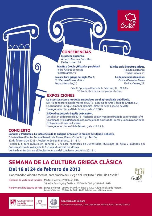 cartel semana griega en Avila