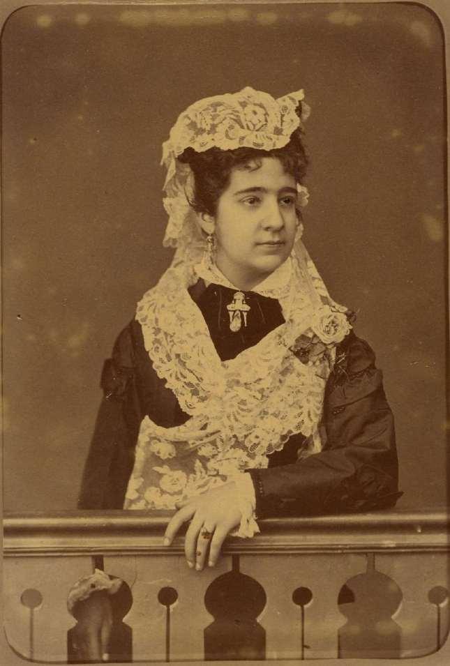 Copia de FOTOGRAFOS ESPAÑOLES - Anónimo, ca. 1895. Dama joven. Hesperus´ Collection