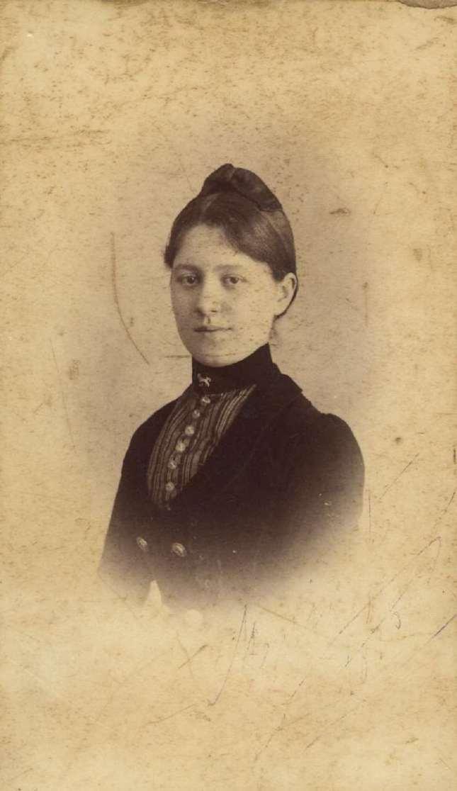 Copia de FOTOGRAFOS ESPAÑOLES - Otero, San Sebastian. Busto de Dama, ca. 1890. Album Lopez, Hesperus´ Collection