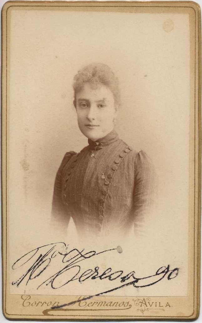Copia de FOTOGRAFOS ESPAÑOLES - Torron Hermanos, Avila. Busto de Dama, c. 1890. Album Lopez, Hesperus´ Collection