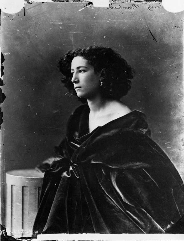 Sarah Bernhardt by Felix Nadar, 1866