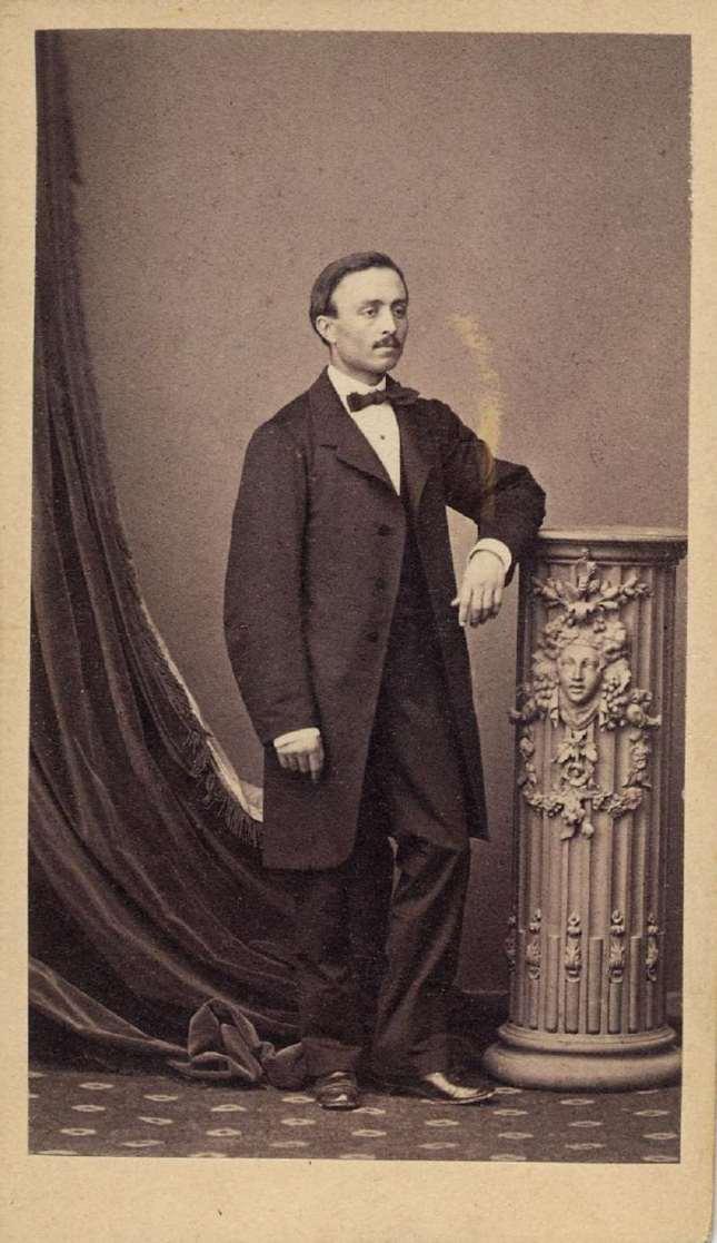 1865. FOTOGRAFOS ESPAÑOLES - Gautier, Heraclio,  Madrid. Caballero. carte de visite ca. 1865. Hesperus´ Collection