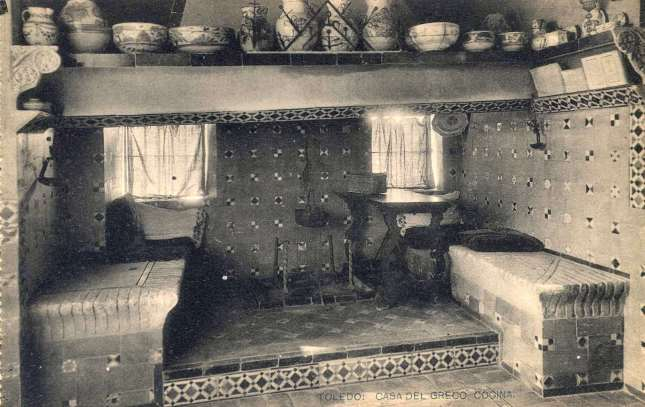 casa del Greco, cocina - carte postale de Hauser y Menet, 1900s. Hesperus´ Collectio
