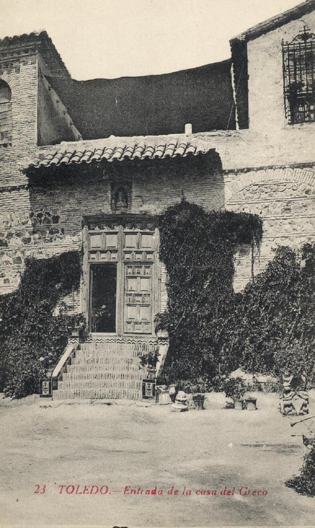 casa del Greco, entrada - carte postale de Castañeira, Alvarez y Lavenfeld, Madrid. ca. 1910. Hesperus´ Collection
