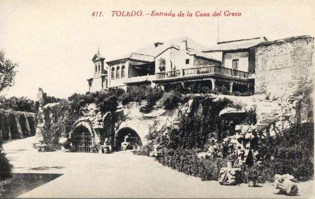 casa del Greco, entrada - carte postale de Castañeira, Alvarez y Levenfeld, 1900s. Hesperus´ Collection