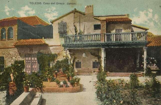 casa del Greco, Jardín - carte postale de Abelardo Linares, Sevilla, ca. 1910. Hesperus´ Collection