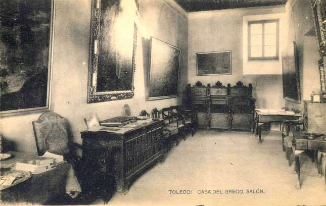 casa del Greco, Salon - carte postale de HAUSER Y MENET, ca. 1900. Hesperus´ Collection