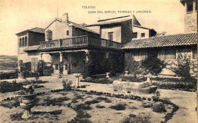 casa del Greco, Terraza y jardines - carte postale de Hauser y Menet, ca. 1900. Hesperus Collection