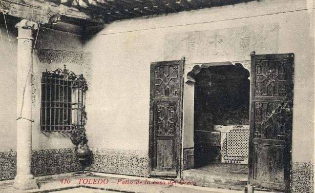 Copia de casa del Greco , Patio - carte postale de  Castañeira, Alvarez y  Levenfeld, Madrid, ca. 1910. Hesperus´Collection