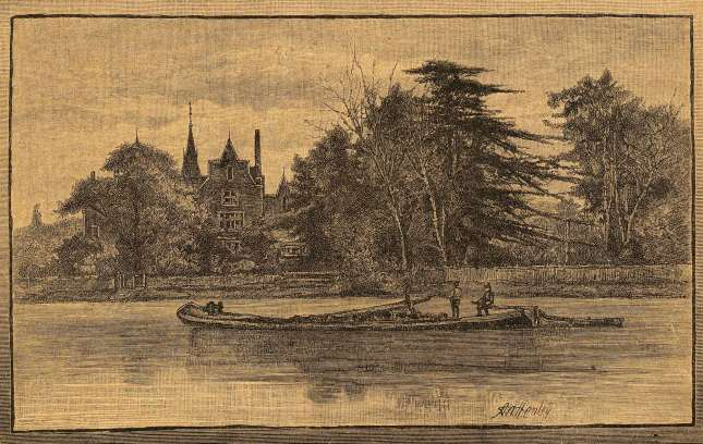 FOSCOLIANA - A view of Chiswick. Xiligrafia by A.H.Henley, 1886. (private collection)