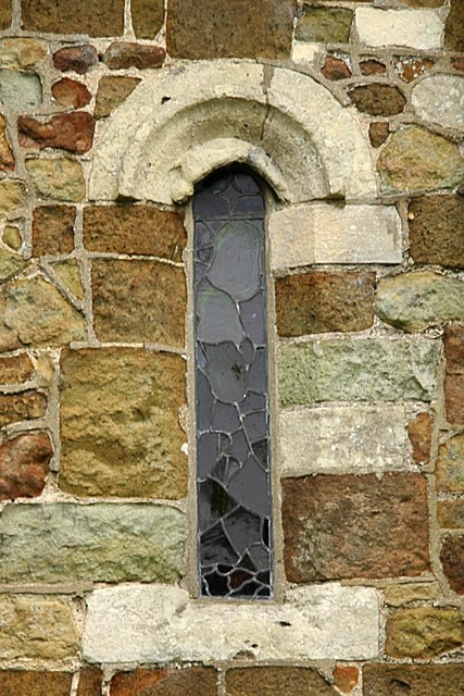 Saint Margaret´s Church, Keddington. Norman window.