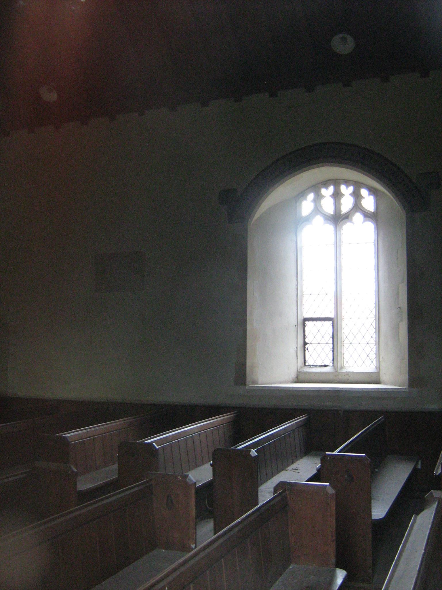 Kalvos - inside Saint Margaret´s Church - on the wall sign of memorial plaque - photo Zafiriou IMG_9741