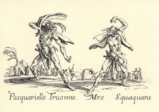 Jacques Callot, Pasquariello Truonno and Meo Squaquara