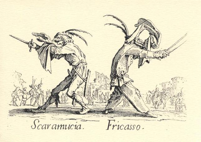 Jacques Callot, Scaramucia and Fricasso