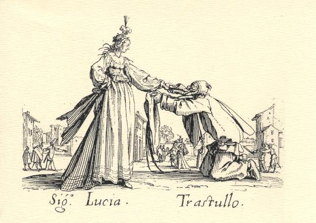 Jacques Callot, Sig.a. Lucia and Trastullo