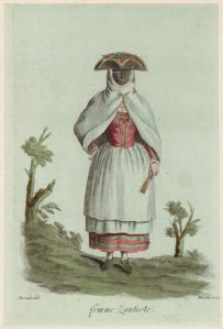 ZANTE - Femme Zantote, (1787), Grasset de Saint-sauveur, engraver J. M. Mixelle.