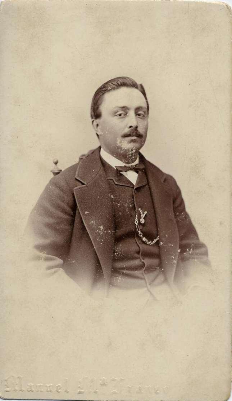 1880. FOTOGRAFOS ESPAÑOLES - Franco, M. M., Madrd. Caballero, carte de visite, ca. 1880.  Hesperus´ Collection