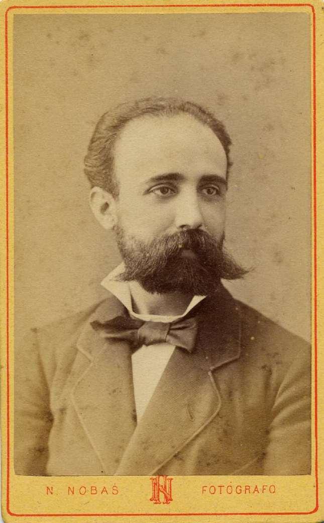 1880. FOTOGRAFOS ESPAÑOLES - Nobas, Narciso, Barcelona. Retrato de caballero, carte de visite, ca. 1880. Album Reig, Hesperus´ Collection