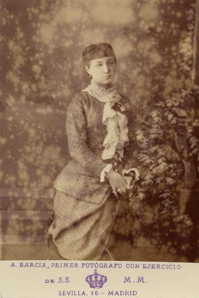 1885. FOTOGRAFOS ESPAÑOLES - Barcia, A., Primer Fotografo de Cámara, Madrid, Dama, ca. 1885, Hesperus´ Collection