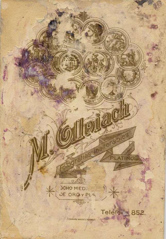 1886. FOTOGRAFOS ESPAÑOLES - Alviach, Manuel (1846-1924),  Madrid.  Dama y caballero, reverse, ca. 1886. Hesperus´ Collection