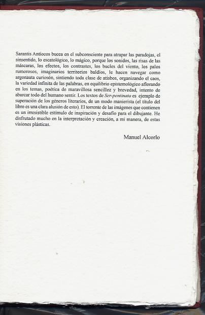 SER -pentinata vol. II - edición bibliofilia - prólogo de Manuel Alcorlo