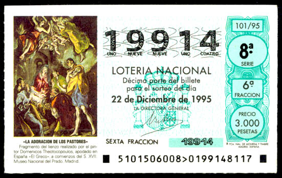 el-greco-en-la-filatelia-espana-loteria-nacional-22-dic-1995