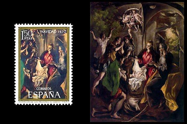 el-greco-en-la-filatelia-espana-navidad-1970