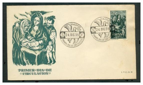el-greco-en-la-filatelia-espana-primer-dia-de-circulacion-madfrid-24-dic-1955