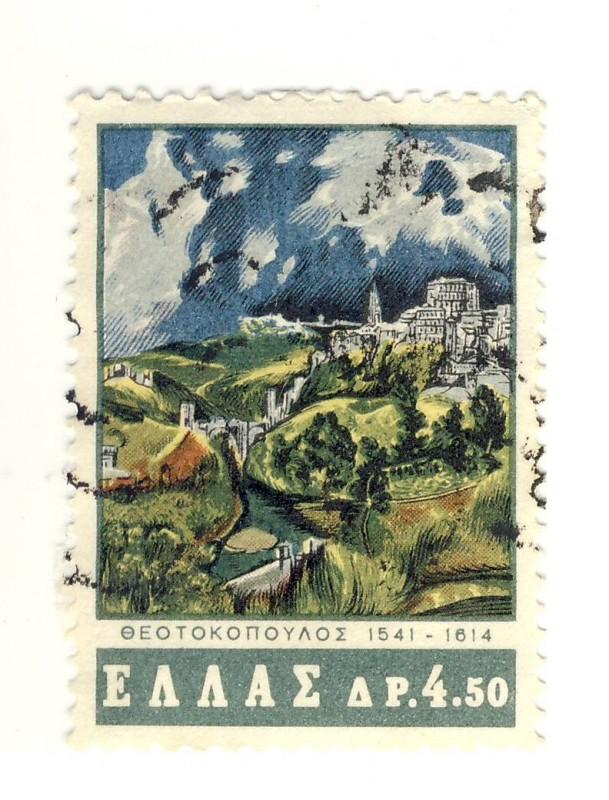 el-greco-en-la-filatelia-grecia-1965