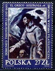 el-greco-en-la-filatelia-polonia-1964